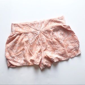 Free People || Paisley Pattern Shorts in Peach